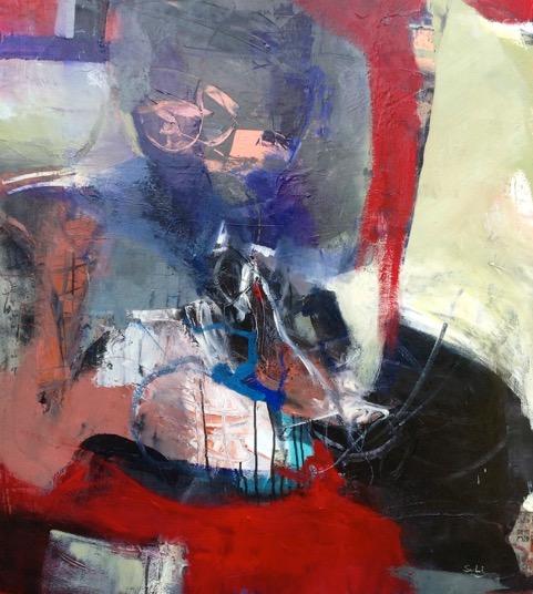 Jazzy, Technique mixte sur toile, 40_ x 36_ (101,5cm x 91cm), 2013